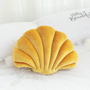 Luxury Giant Clam Shell Velvet Stuffed Pillow Cushion Doll