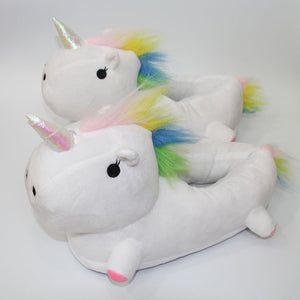 Cartoon Unicorn LED Light Warm Plush Indoor Slippers Shoes