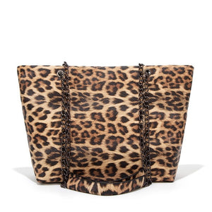 Casual Leopard/Snake Leather Large Capacity Tote Bags Shoulder Bags