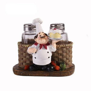 Mini Chef 8 cm Resin Pepper Bottle Figurines Decoration