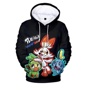 Pokemon Sword and Shield All Over Print Sweatshirt Hoodies