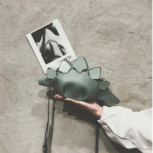 Cute Stegosaurus Dinosaur Leather Purse Bag Handbag