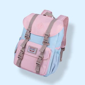 Candy Color Multifunction Large Capacity School Bag Backpack