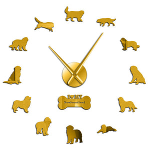 Newfoundland Dog Large Frameless DIY Wall Clock