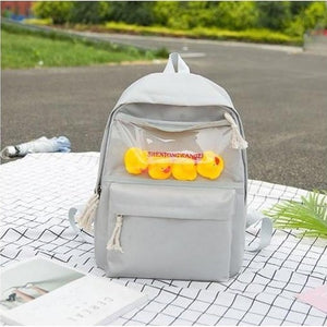 Cute Rubber Ducks Toy Transparent School Bag Backpack