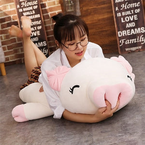 Giant Cartoon Pig Plush Stuffed Toy Doll Bolster Pillow