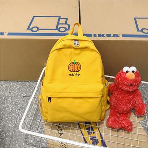 Cute Fruit Embroidery Waterproof Nylon Backpack School Bag for Girls