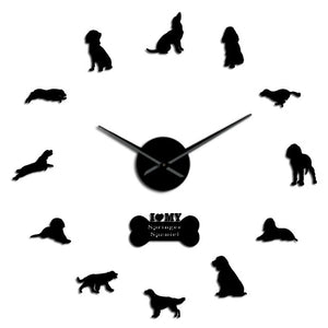 English Springer Spaniel Large Frameless DIY Wall Clock Dog Lover Gift