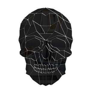 Geometric Skeleton Skull Head DIY Acrylic Mirror Wall Sticker Home Decor Decals