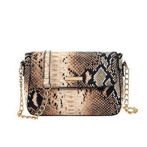 Snake Print Leather Women Small Purse Shoulder Bags