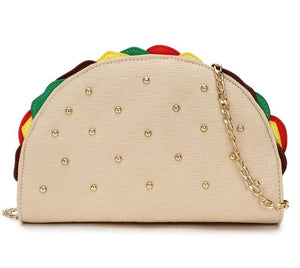 Cute Taco Sandwich Shape Leather Purse Shoulder Bag