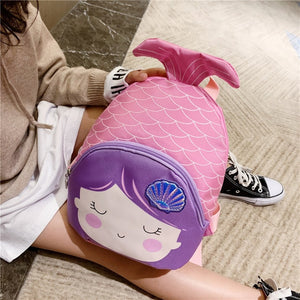 Cartoon Mermaid Fish Tail Girl Mini Backpack School Bag