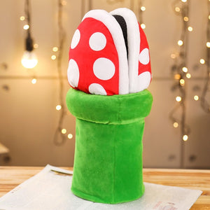 Piranha Plants Cannibal Mario Flower Plush Stuffed Home Slipper Shoes
