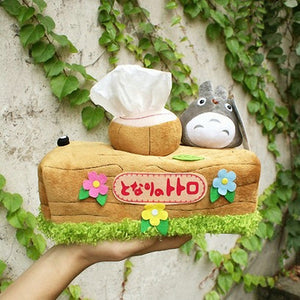 Japanese Anime Tororo Plush Doll Napkin Tissue Box Holder