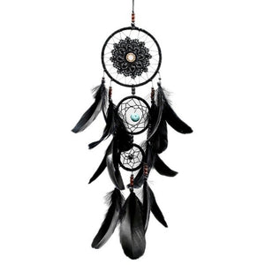 Black Feather Crafts Dreamcatcher Wind Chimes Indian Style