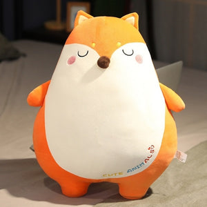 Lovely Fatty Animal Cuddly Hugable Soft Plush Stuffed Sleeping Pillow Doll Gift