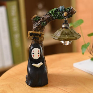 No Face Faceless Spirited Away Figures Model LED Night Light Lantern Lamp