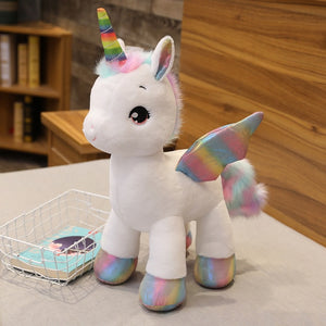 Dream Unicorn Rainbow Horse Huggable Plush Stuffed Pillow Doll Gift For Kids