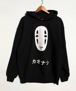 Anime Spirited Away No Face Printed Long Sleeve Hoodie Sweatshirt