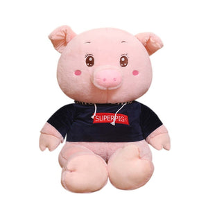 Cute Happy Giant Fatty Pig Large Plush Stuffed Doll Gift