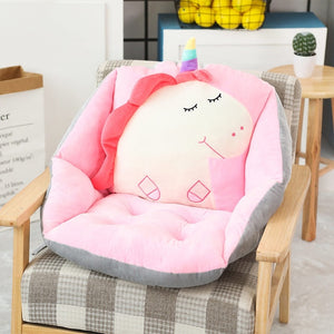 Cartoon Chair Cushion Lumbar Back Support Seat Pad Pillow