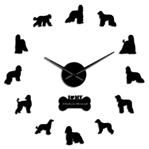 Afghan Hound Dog Lovers Large Frameless DIY Wall Clock Gift