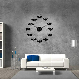 Angel Wings With Number Large Frameless DIY Wall Clock
