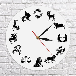 Wall Clocks - Astrology Art Zodiac Sign Wall Watch Clock Gift