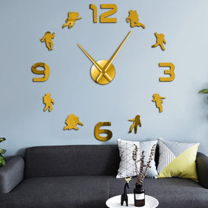 Astronaut Outer Space Large Frameless DIY Wall Clock