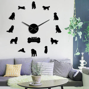 I Love My Bernese Mountain Dog Large Frameless DIY Wall Clock Gift
