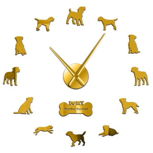 Wall Clocks - I Love My Border Terrier Dog Large Frameless DIY Wall Clock Gifts