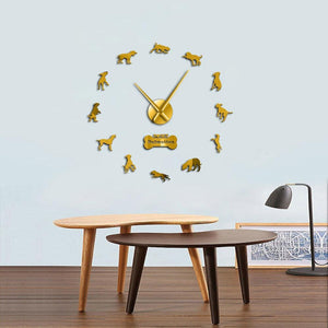 I Love My Dalmatian Dog Large Frameless DIY Wall Clock