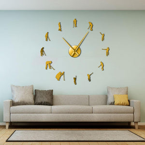 Wall Clocks - Pro Golfers Golfing Large Frameless DIY Wall Clock Golf Lover Gift