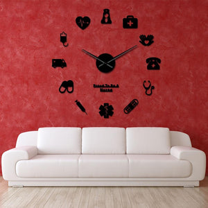 Wall Clocks - Proud To Be A Nurse Large Frameless DIY Wall Clock Gift