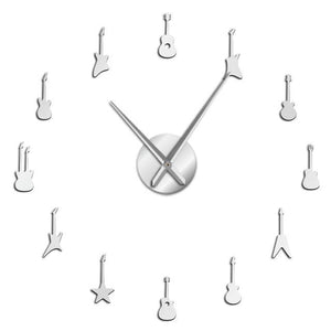 Wall Clocks - Rock N Roll Guitar Large Frameless DIY Wall Clock