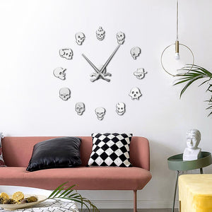 Wall Clocks - Various Skull Heads Skeleton Large Frameless DIY Wall Clock