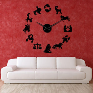 Wall Clocks - Zodiac Signs Constellation Large Frameless DIY Wall Clock Gift