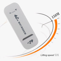 4G LTE Dongle Adapter Small Unlocked Wireless USB Network Card Router Universal Stick High Speed WiFi Modem 150Mbps White