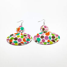 Load image into Gallery viewer, Multicolored Polka Dots Earrings