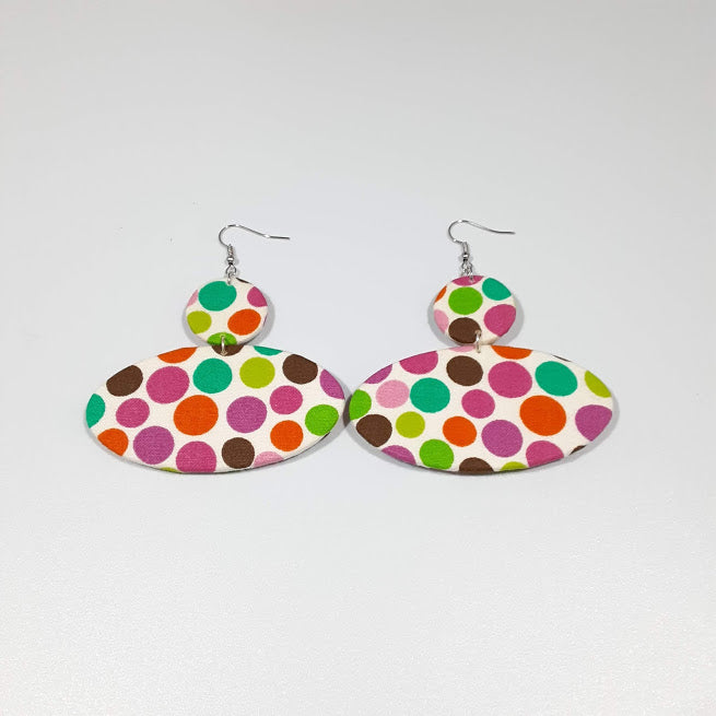 Multicolored Polka Dots Earrings