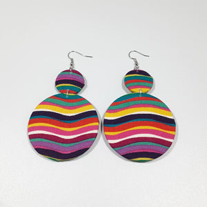 Multicolored Swirls Earrings
