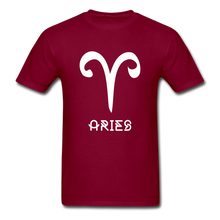 Load image into Gallery viewer, Aries Men's T-Shirt - burgundy