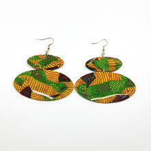 Load image into Gallery viewer, Stripes Specks Ankara Earrings