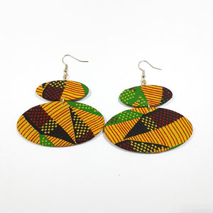 Stripes Specks Ankara Earrings