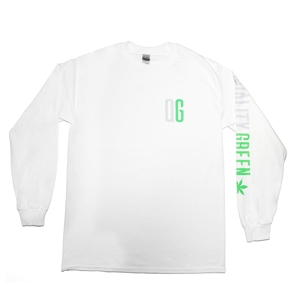 "Quality Green ""We Know Cannabis"" Long Sleeve Tee"