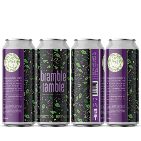 Bramble Ramble Tart Blackberry Ale 16oz (12 or 24 packs)