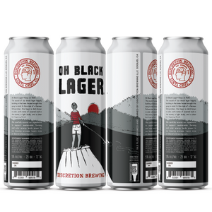 Oh Black Lager 19.2oz  -15pk