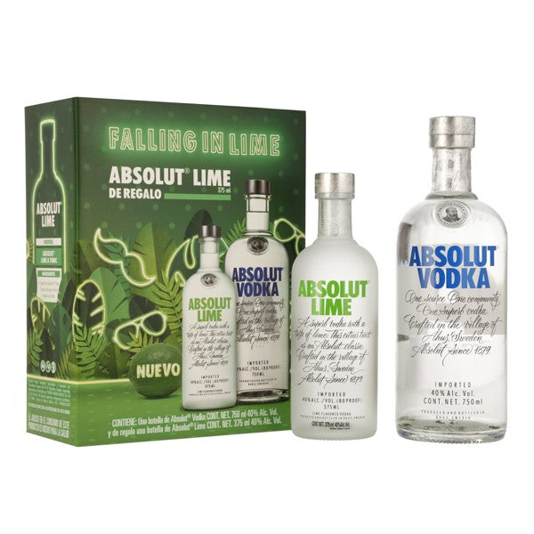 VODKA ABSOLUT C/LIME 375 ml <br> Absolut