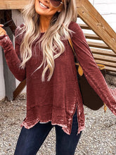 Load image into Gallery viewer, Plus Size Crew Neck Casual Long Sleeve Tops