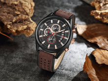 Load image into Gallery viewer, Men's Watches Calendars Men's Watches Waterproof Belt Watch Sport Men's Watches